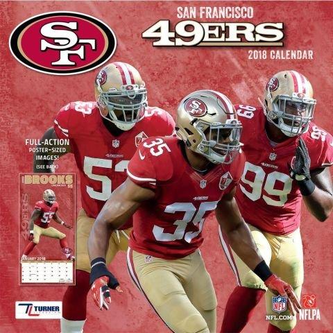 2018 San Francisco 49ers NFL Team Wall - Francisco Calendars 49ers San