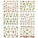 allydrew Asian Inspired Nail Art Self-Adhesive Stickers Nail Decals, Set of 6