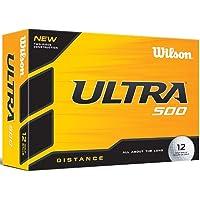 Wilson WGWR58800 Plastic Ultra 500 Golf Balls- White, 12 Pack (White)