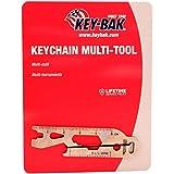 KEY-BAK Keychain Multi-Tool (Bottle Opener, Box Wrench (1/4, 5/16, AND 3/8), Flat Screwdriver, Mini Pry, Spoke Key and Ruler)