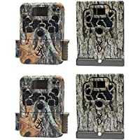 Browning Trail Cameras Strike Force Elite Game Camera, 2 Pack + Security Boxes