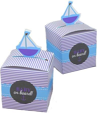 Kingsley 50pz Bomboniere Barca a vela Candy cajas regalo cajas ...