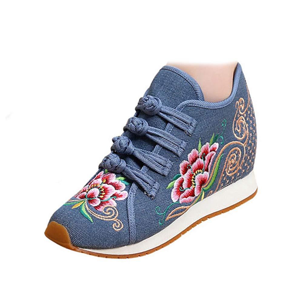 Chaussures Fleurs de Broderie de Fleurs de de 8416 Style Chinois Bleu-shortplush 824d8d7 - boatplans.space