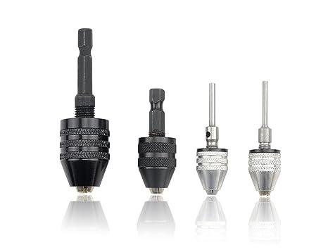 Amazon.com: tovot 4 Pcs Keyless Drill Chuck adaptador de ...