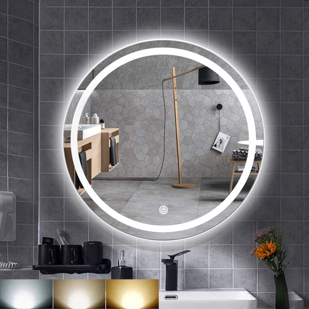 Led Mirror Front Light Simple Moisture-Proof and Anti-Fog Acrylic Mirror Wall Lamp Bathroom Dressing Table Mirror Lighting Wall Lamp-black-40CM Warm Light