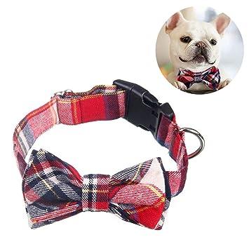 NACOCO Collar con Pajarita a Cuadros para Perro, Mascota, Lazo ...