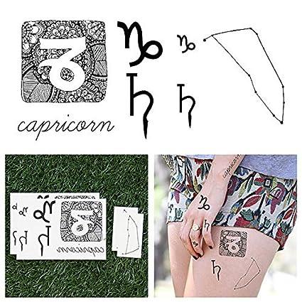 Tatuajes Temporales Tattify - Astrología - Capricornio (juego de ...