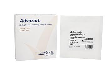 Apósito cuadrado hidrofilico de Advazorb, tamaño: 10 x 10 cm.: Amazon.es: Salud y cuidado personal