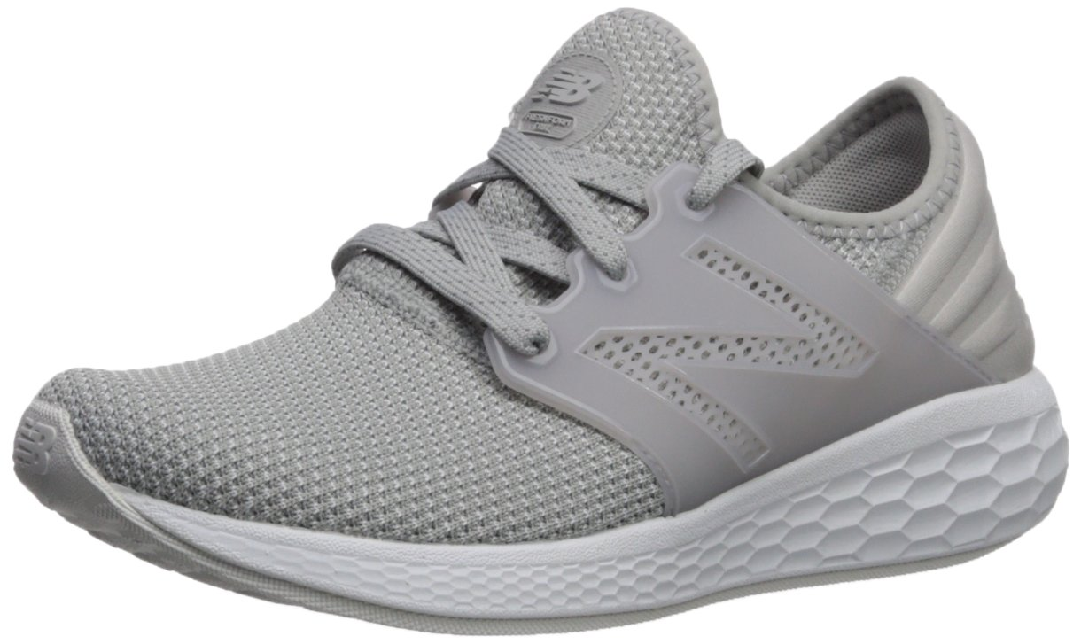 New Balance Women's Cruz V1 Fresh Foam Running Shoe B0751Q92J4 8.5 D US|Grey/White