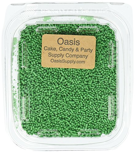 Oasis Supply Jimmies/Sprinkles, 7-Ounce, Light Green