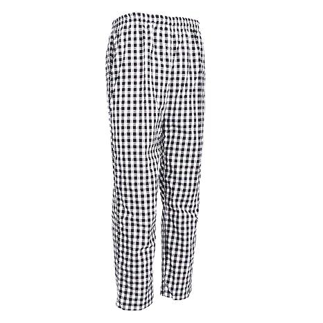 MagiDeal Pantalones de Cocinero Uniforme de Trabajo Cómodos Elásticos Ropa Formal Unisexo - 2