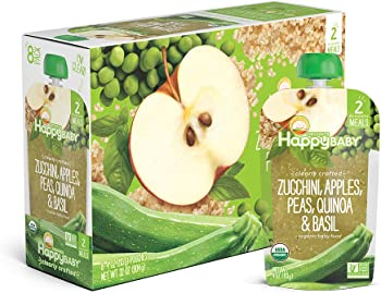 16-Pack Happy Baby Organic Clearly Crafted Stage 2 Baby Food