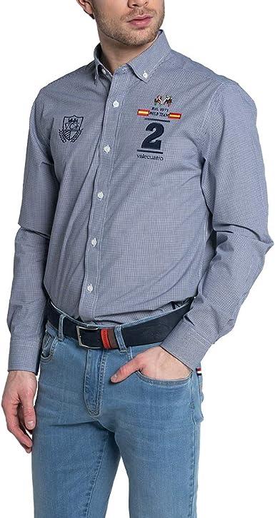 Camisa Manga Larga para Hombre, Bordado Polo con Bandera ...