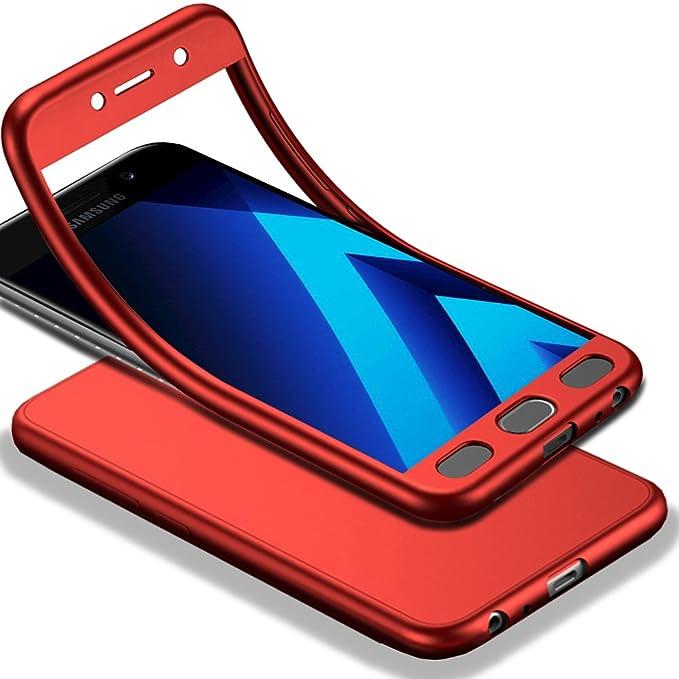 GUANHAO - Carcasa para Galaxy A7 2017, protección de 360 Grados ...
