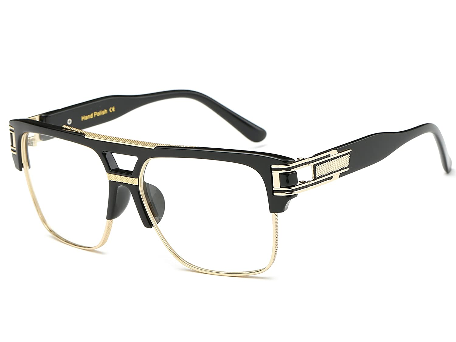 5f6e637388846 Bridge  15 millimeters. Arm  142 millimeters. Reinforced Metal Hinges High  optical quality frames. Classic Square Aviator Frame 100% Protection  Against ...