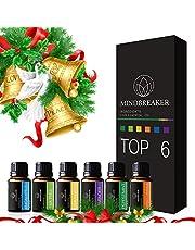 Huile essentielle aromathérapie Ensemble Comprend Top 6Ensemble cadeau: Lavande, Orange douce, Menthe poivrée, arbre à thé, Citronnelle, Eucalyptus-100% pure