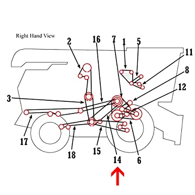 Amazon Com H77019 New Secondary Countershaft Belt Made To Fit John