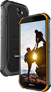 DOOGEE S40 LITE Rugged Unlocked Smartphones, IP68 Waterproof Unlocked Cell Phone Global 3G Dual SIM Android 9.0 2GB+16GB 5.5 inch 4650mAh, 8MP+5MP Dual Rear Cameras Face ID GPS Mobile Phones, Orange