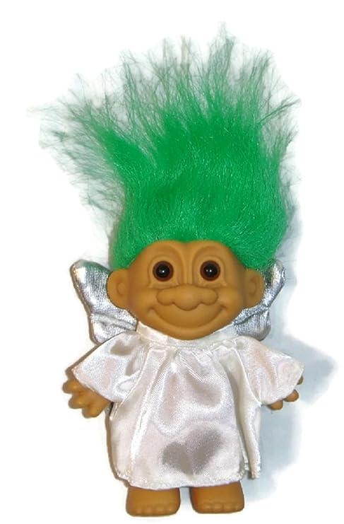 Amazon Com Good Luck Angel Troll Doll Green Hair Silver Wings