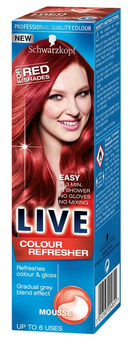 Schwarzkopf LIVE Colour Refresher Mousse for Red Shades, ammonia ...