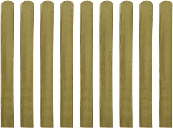 vidaXL 10x Vallas de Estacas Jardín Madera Pino Impregnada 140 cm Cerca Palos: Amazon.es: Bricolaje y herramientas