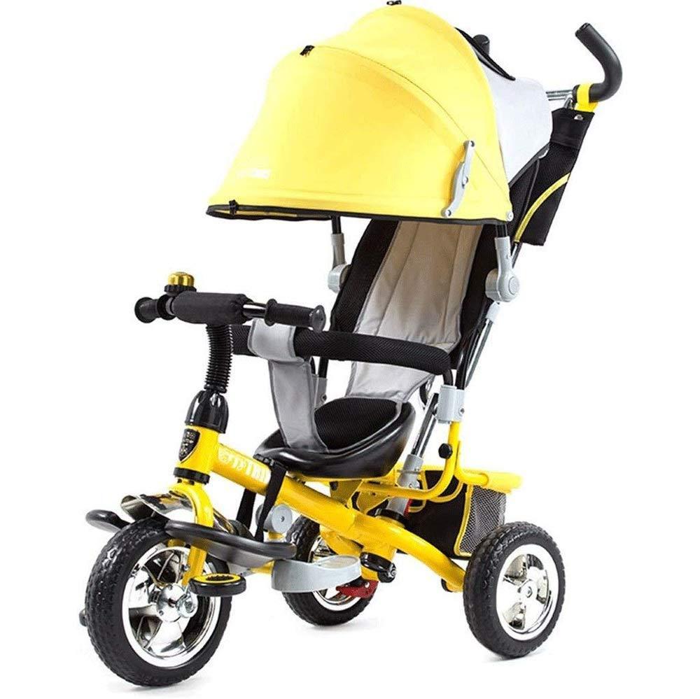TYT 4-in-1三輪車手押し車ベビーカー子供、赤ちゃん自転車自転車三輪車、1-6歳ベビーカー自転車 (色 : A) B07PFQ641G B  B
