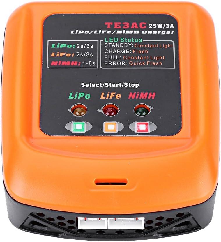 Cargador de bater/ía Lipo equilibrado 25W 3A RC para 2S//3S LiPo Life 1-8S NiMh