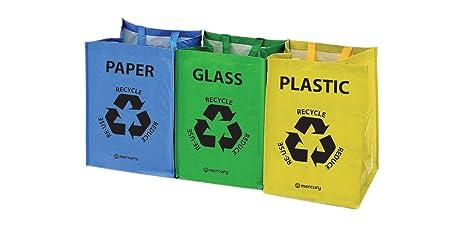 Mercury | Bolsas de reciclaje resistentes con asas | Juego ...
