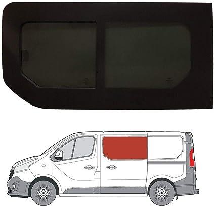 Mano izquierda ventana abatible para puerta corredera, tintado oscuro Renault Trafic (2014 On): Amazon.es: Coche y moto