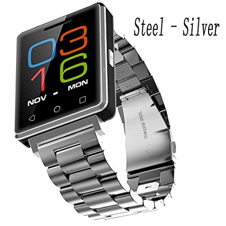 Silver Steel Los Relojes De Pulsera For Women , Shengyaohul Digital Wrist Watch Bluetooth Empuje /