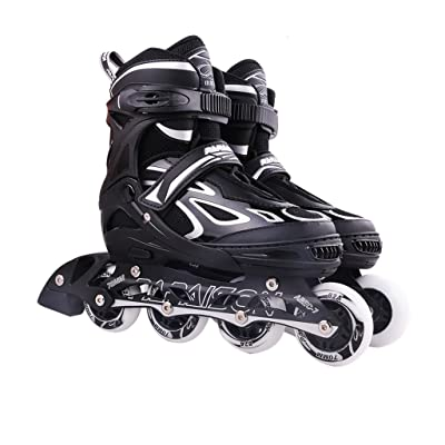 Crayom Easy to Operate Roller Blades Inline Quad Skates Adjustable Size Childrens Kids Pro Combo Multi Ice Skating Boots Shoes Four Colors : Sports & Outdoors