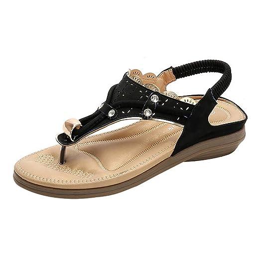 d1425cf299b5 Women s Fashion Summer Sandals Rhinestone Casual Beach Slippers Shoes  Platform Flats High Heel Sandals