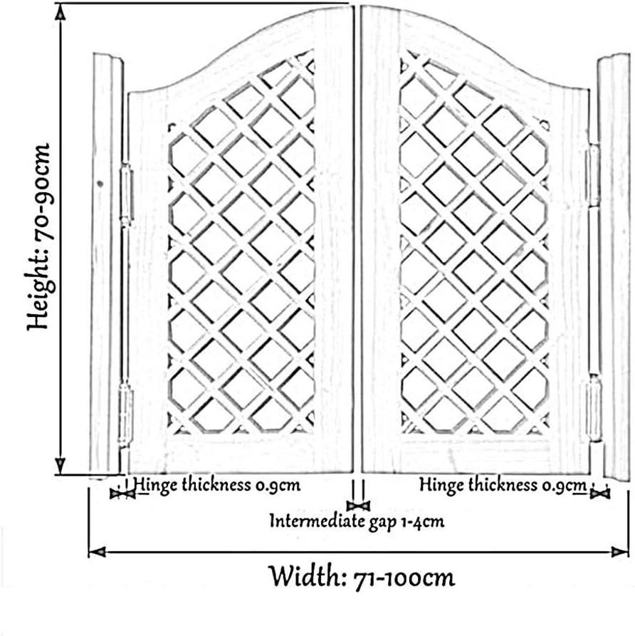 Custom Size Bar Saloon Door American Style Color : Blue, Size : 75x80cm CAIJUN Swinging Doors Cafe Doors Retro Solid Wood Two-Way Open Louver Door 22 Colors