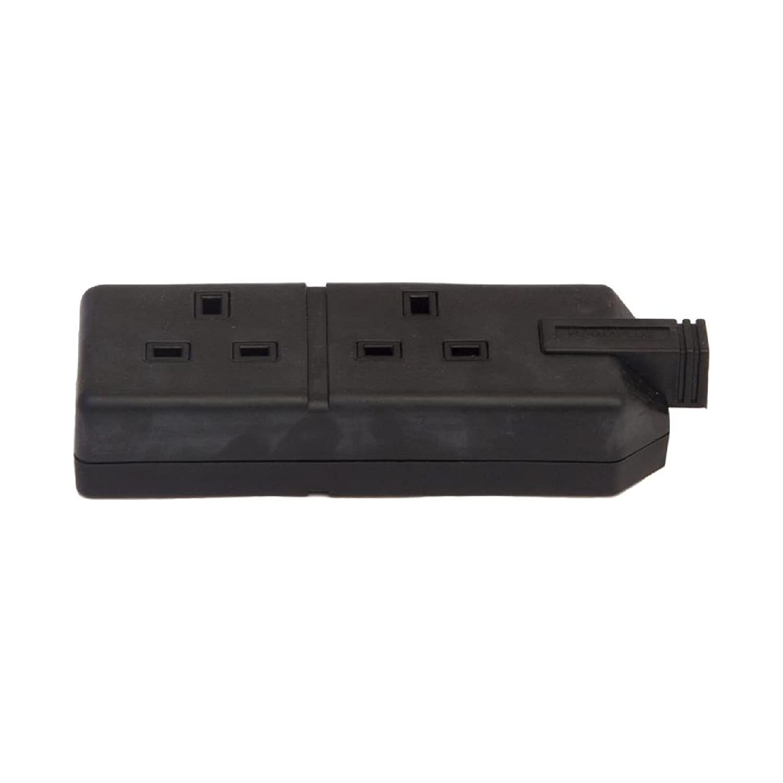 Genuine 1x Permaplug Trail Socket Double Black Electrical Connectors Accessor. Van Line