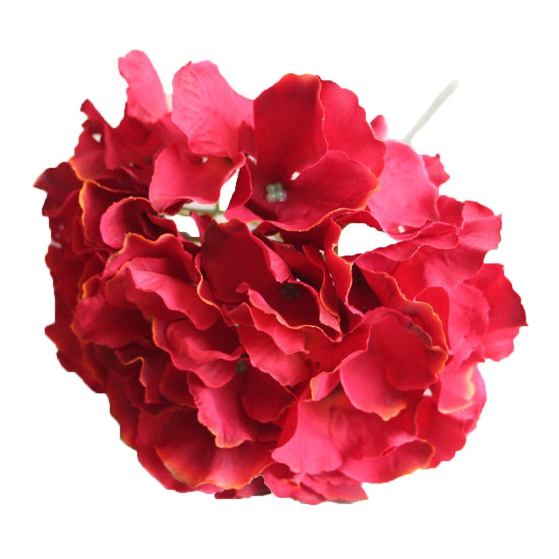Calcifer 10 Pcs Mallorca Hydrangea Flowers Artificial Flowers for Home Garden Wedding Bohemia Hat Decor (Champagne)