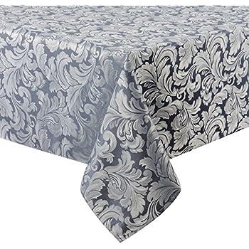 Amazon Com Colorbird Scroll Damask Jacquard Tablecloth