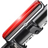 Lonew Ultra Bright Bike Light 120T USB Rechargeable Bicycle Tail Light. waterproof Red High Intensity Rear LED Accessories Fits On Any Road Bikes, Helmets. 6 Lighting modes Safety Flashlight.