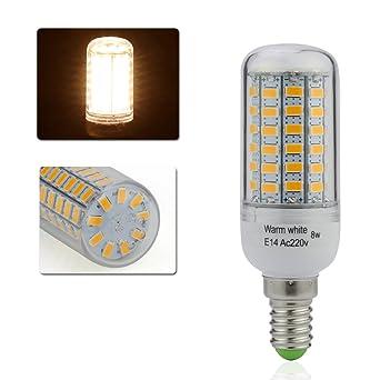E14 8W 40 LEDs SMD Glühbirne Birne Mais Licht Leuchtmittel Lampe Warmweiß Weiß