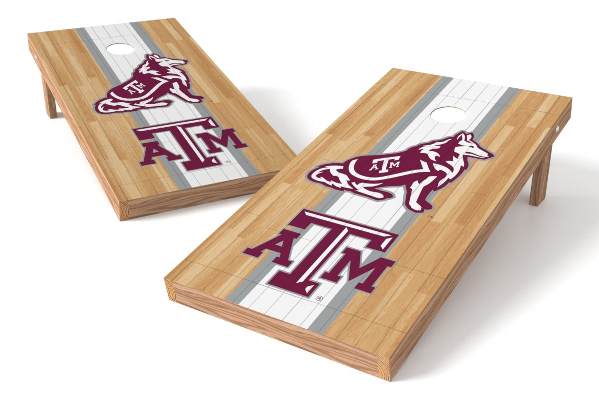 Wild Sports NCAA College Texas A&M Aggies 2' x 4' Hardwood Authentic Cornhole Game Set
