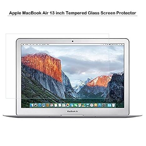 Protector de pantalla de cristal templado para MacBook Air de 13pulgadas, Fiimi protector