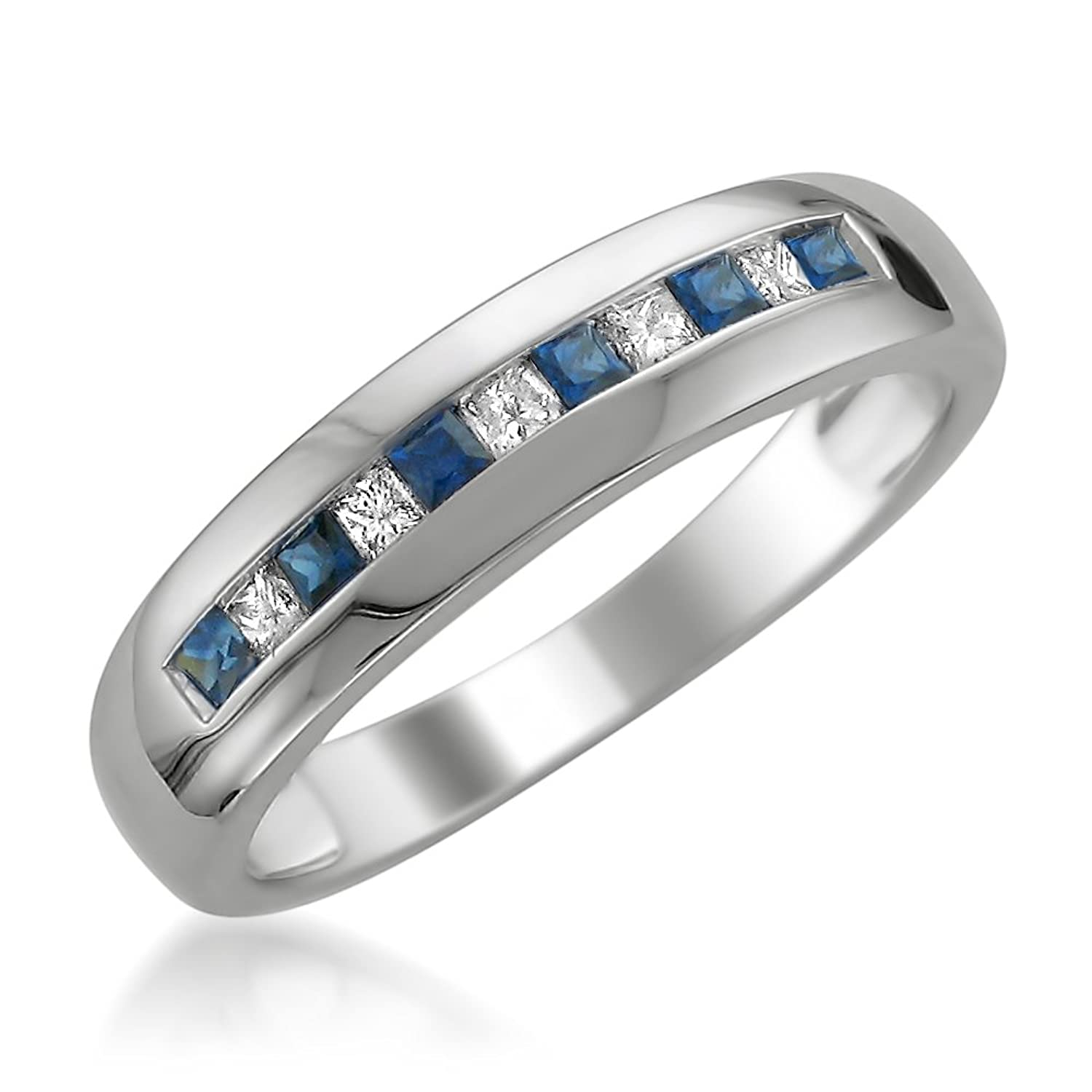blue wedding product baguette sapphire kara diamond band and charlotte milgrain kirk platinum
