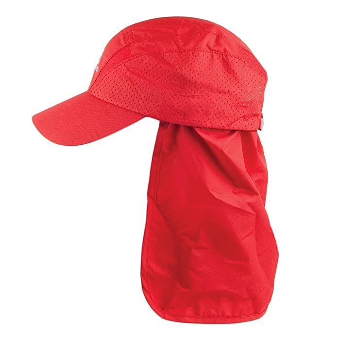 55f3ad1f2d830 Salomon Hats XA Baseball Cap with Neck Protector - Red Large/X-Large ...