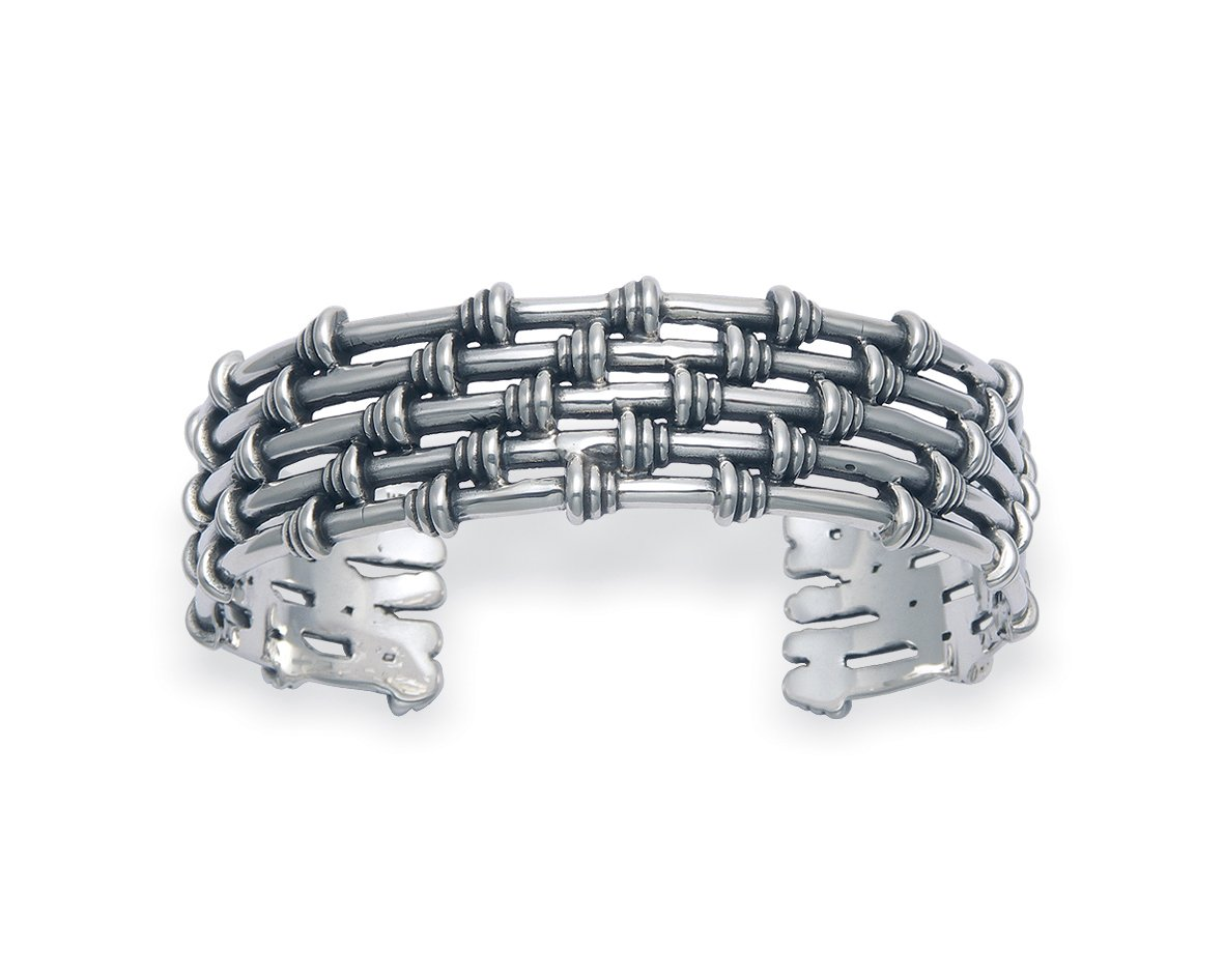 Men's Sterling Silver Five Wire Cuff Bracelet