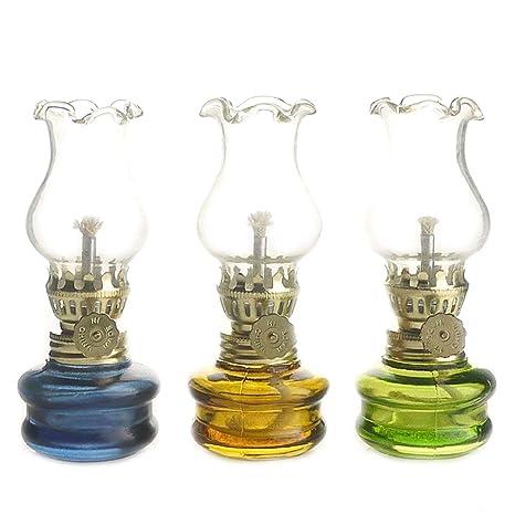 Purismo stile di kerosene Olio lampada lanterna di set di 3  Amazon.it   Illuminazione 3280c0f14f9