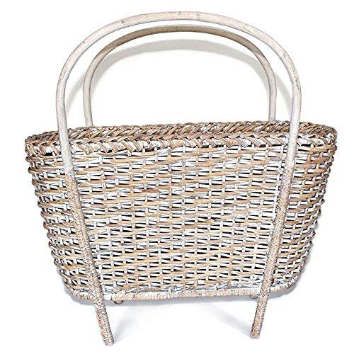 (Saffron Trading Company Magazine Basket - White Wash)