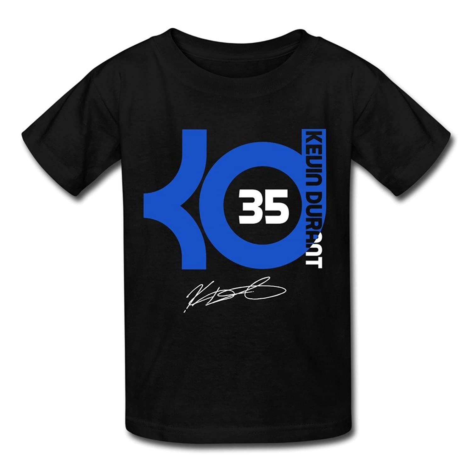 SOGA Youth Short Sleeve T Shirt Kevin Durant Basketball Player Black