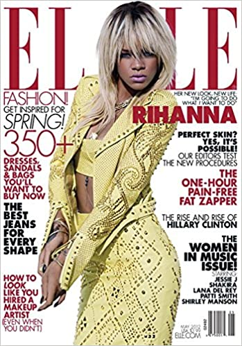 elle magazine may 2012 rihanna alternate cover one hour pain free fat zapper