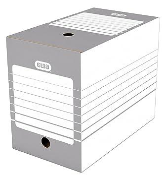 Elba-Lote de 20 cajas de archivo automática 20 cm, color Gris: Amazon.es: Oficina y papelería