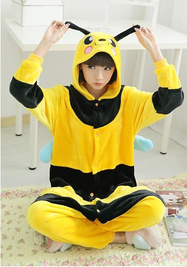 145-155cm Abeille Katara 1744 Grenouillère Combinaison pour Adultes Tenue de Nuit Pyjama Kigurumi Costume Taille S