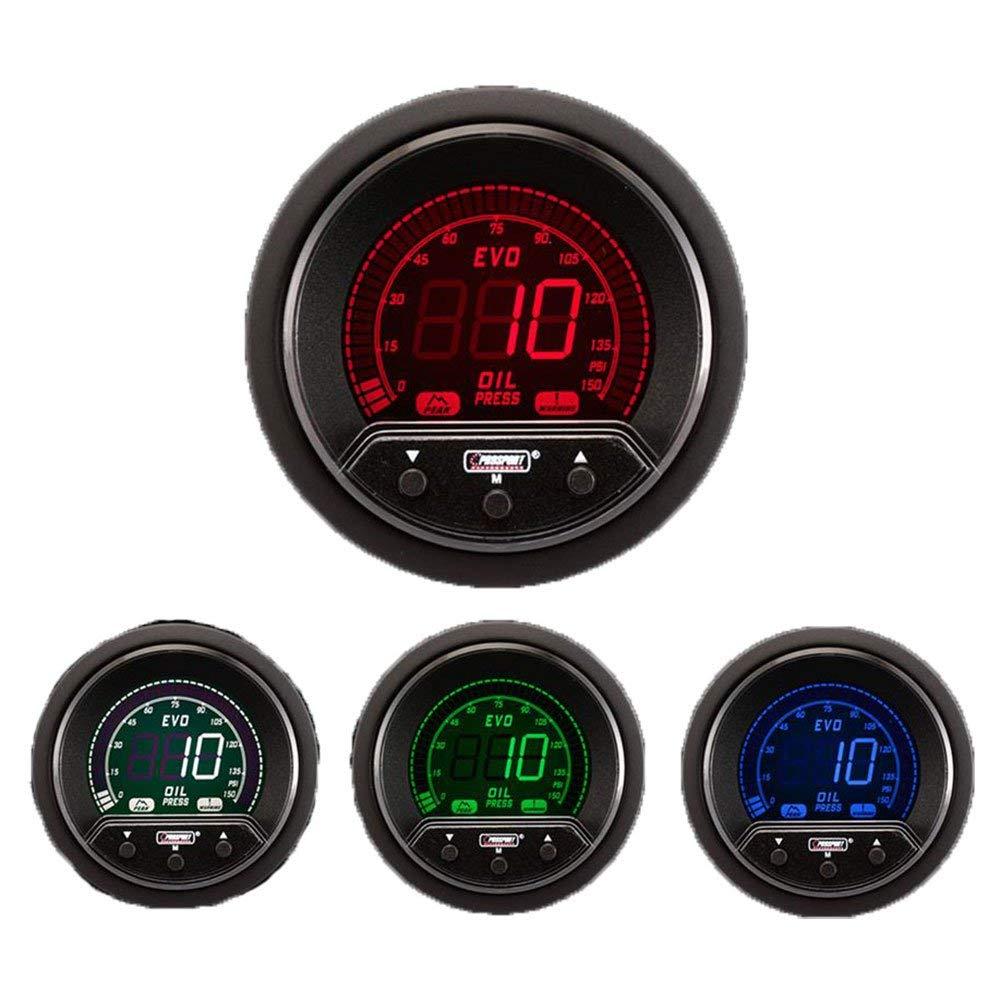 2 1//16 NEW Oil Pressure Gauge Electrical Digital Green//white//red//blue Premium EVO Series 52mm